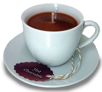 Picture of TEA CUP & SAUCER - CANDLE GIFT SET - Hot Chocolate