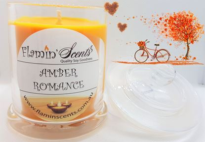 Picture of AMBER ROMANCE CANDLE